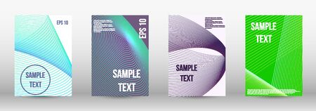 Modern design template. A set of modern abstract oblong objects from vector abstract lines. Geometric template with lines for booklet cover. Trendy geometric patterns. Illustration