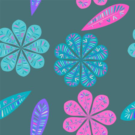 Nice floral pattern. Seamless floral wallpaper. Spring decoration. Vector illustration isolated. Abstract vector background. Illustration