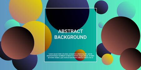 Trendy abstract business card with gradients of balls shapes on background.  Trendy minimal design. Vector illustration template. Geometric modern design.