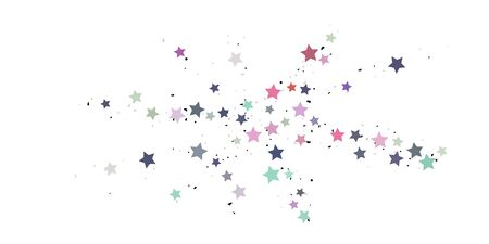 Starry Confetti. Multicolored random stars confetti background. Bright design template. Vector pattern with colored stars. Suitable for your design, cards, invitations, gift, VIP.