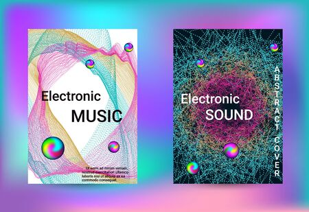 Electronics music set covers. Minimal vector coverage. Vector print template. Geometric print. Abstract vector background.