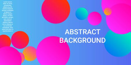 Trendy abstract business card with gradients of balls shapes on background.  Creative geometric wallpaper. Vector illustration template. Abstract geometric background design. Ilustracja