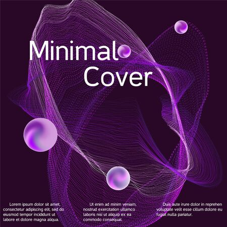 Poster for cover design. Abstract flyer design background.  Abstract sound wave. Cover layout template.