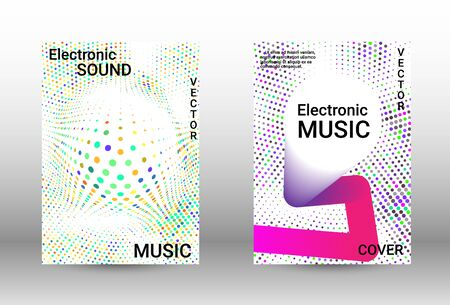 Modern abstract background.  A set of modern abstract covers. Musical covers your design, great design for any purposes.  Concept business vector.