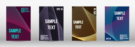 Minimum vector coverage.  A set of trendy covers.  Geometric template with lines for booklet cover. Trendy geometric patterns. EPS10 Vector Design.