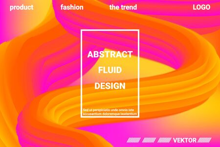 Futuristic Abstract Background. 3d  Abstract liquid fluid color shape. Futuristic concept.  Modern graphic texture. Vector 3d illustration.