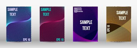 Modern abstract background. A set of trendy covers.  Geometric template with lines for booklet cover. Trendy geometric patterns. EPS10 Vector Design.