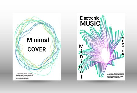 Modern design template.  A set of modern abstract covers. Musical covers your design, great design for any purposes.  Concept business vector. Ilustracja