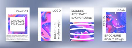 Modern design template. Creative fluid backgrounds. A set of modern abstract covers. Colorful rainbow gradient. Smooth banner template.