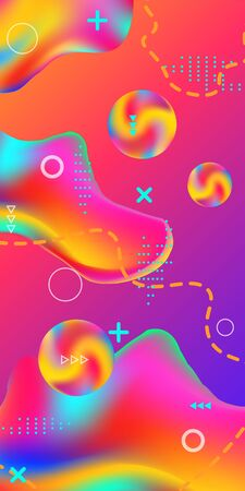Trendy creative vector space gradient. Abstract vector cover.  Creative fluid background from current shapes to design trendy abstract covers, banners, posters, booklets. Ilustracja
