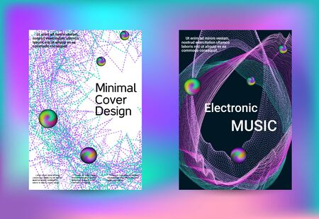 Electronics music set covers. Line art banner. Isolated vector illustration vector music background. Business brochure template. Geometric print. Abstract vector background.