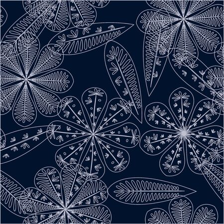Nice floral pattern. Seamless floral wallpaper. Spring decoration. Vector illustration isolated. Abstract vector background. Ilustracja
