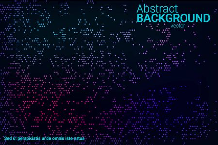 Trendy abstract flyer design with blue, purple, green, pink halftone neon texture on dark background for web background design, cover design. The element of modern design. Vector 3d illustration. Ilustracja