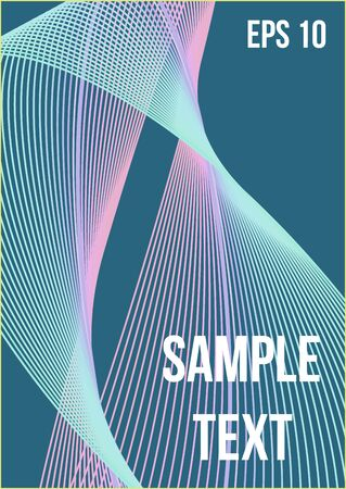 Abstract cover. Modern abstract cover from vector abstract lines.  Geometric future template for flyer, poster, brochure and invitation.