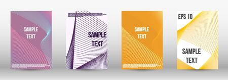 Modern design template. A set of trendy covers.  Geometric template with lines for booklet cover. Trendy geometric patterns. EPS10 Vector Design. Ilustracja