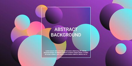 Trendy gradients of balls shapes, great design for any purposes.  Creative geometric wallpaper. Vector 3d illustration. Geometric modern design.