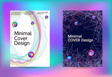 Set of covers for design. Minimal creative art. Vector print template. Geometric print. Abstract vector background. Ilustracja
