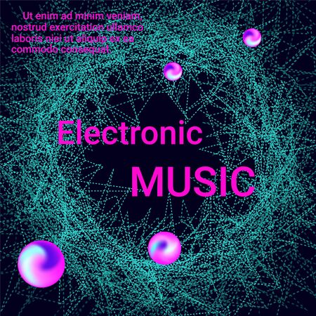 Minimal vector coverage. Cover design for electronic music festival. Modern abstract music backgrounds. Sound flyer to create a fashionable abstract cover, banner, poster, booklet.