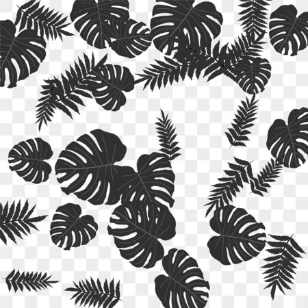 Trendy vector tropical pattern, great design for any purposes. Beautiful spring garden. Tropical backdrop. Summer green garden. Summer tropical leaf. Holiday decoration. Çizim