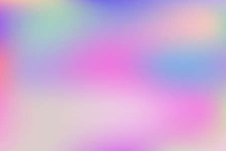 Blurred gradient mesh in modern style on colorful background. Colorful smooth banner template.Trendy creative vector. Intense blank Holographic spectrum gradient for cover. Ilustração