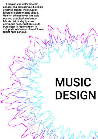 Modern design template. Cover music album. Concept business vector.