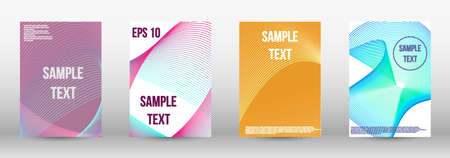 Modern design template. A set of trendy covers.  Geometric template with lines for booklet cover. Trendy geometric patterns. EPS10 Vector Design. Vettoriali