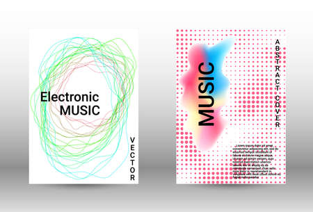 Modern design template.  A set of modern abstract covers. Musical covers your design, great design for any purposes.  Concept business vector. Vettoriali