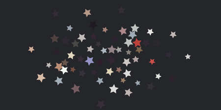 Abstract star confetti. Falling star background. Random stars shine on a dark background. Flying confetti. Suitable for your design, cards, invitations, gifts.
