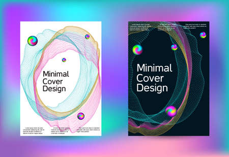 Set of covers for design. Minimal creative art. Vector print template. Geometric print. Abstract vector background. Ilustrace