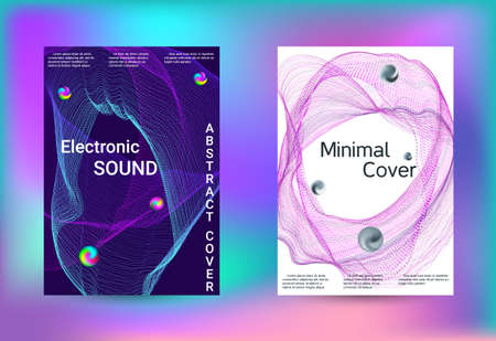 Electronics music set covers. Minimal creative art. Vector print template. Geometric print. Abstract vector background.