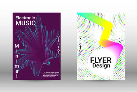 Modern design template. A set of modern abstract covers. Musical covers your design, great design for any purposes. Concept business vector. Ilustracje wektorowe