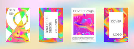 Modern abstract background. A set of modern abstract covers. Blurred bright colors mesh background. Smooth banner template. Vetores