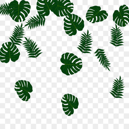 Trendy vector tropical pattern, great design for any purposes. Beautiful spring garden. Tropical backdrop. Summer green garden. Summer tropical leaf. Holiday decoration.