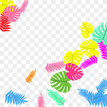 Trendy vector tropical pattern, great design for any purposes. Beautiful spring garden. Tropical backdrop. Summer green garden. Summer tropical leaf. Holiday decoration. Illustration