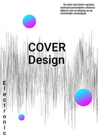 Minimum vector coverage. Modern design template.  Creative sound background with abstract gradient line.