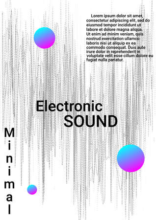 Minimum vector coverage. Modern abstract background.  Sound flyer to create trendy abstract cover, banner, poster, booklet. Illustration