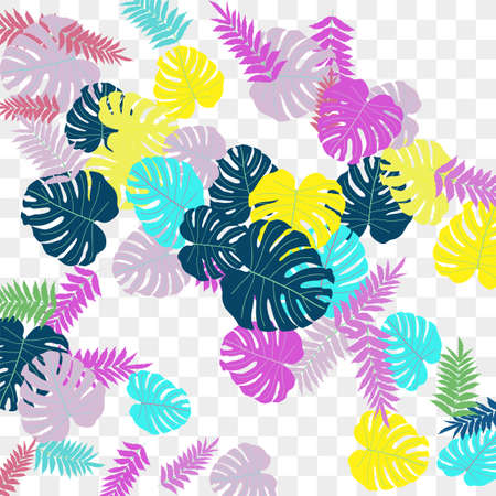 Trendy vector tropical pattern, great design for any purposes. Beautiful spring garden. Tropical backdrop. Summer green garden. Summer tropical leaf. Holiday decoration. Illusztráció