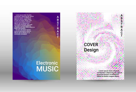 Modern design template.  A set of modern abstract covers. Musical covers your design, great design for any purposes.  Concept business vector. Illusztráció