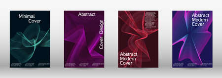 Minimum vector coverage.  A set of modern abstract covers. Creative backgrounds from abstract lines to create a fashionable abstract cover, banner, poster, booklet. Vector illustration. Illusztráció