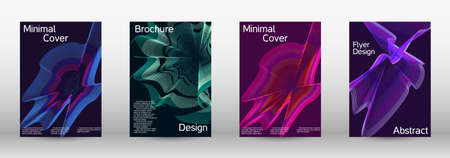 Modern design template.  A set of modern abstract covers. Creative backgrounds from abstract lines to create a fashionable abstract cover, banner, poster, booklet. Vector illustration. Illusztráció