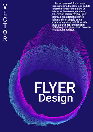 Artistic cover design. Modern abstract background. Creative sound background with abstract gradient line.