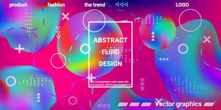 Summer sound poster design of a music festival.  Bright smooth mesh is blurred by a futuristic pattern in pink, blue, green, yellow, purple tones. Trendy creative vector cosmic gradient.