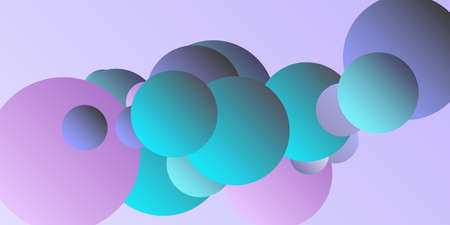 Ball shape gradients.  Multicolored balls for design 3D illustration.  Abstract geometric background design.
