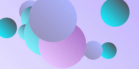 Trendy abstract business card with gradients of balls shapes on background.  Creative geometric wallpaper. Vector 3d illustration.  Magazine style. Vector clip art.