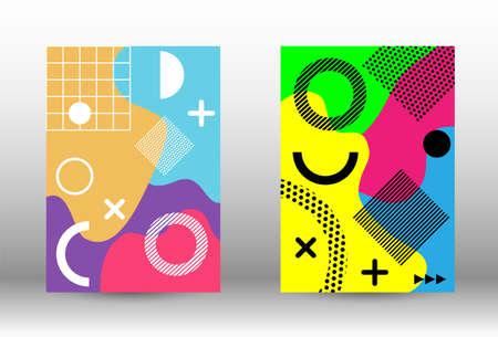 Modern abstract vector banner set. Trendy abstract vector illustration. Minimal geometric shape. Creative vector banner illustration. Illusztráció