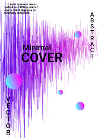 Artistic cover design.  Creative fluid colors backgrounds.  Creative sound background with abstract gradient line.