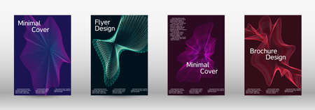 Modern design template.  A set of modern abstract covers. Creative backgrounds from abstract lines to create a fashionable abstract cover, banner, poster, booklet. Vector illustration. EPS 10.