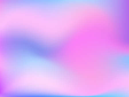 Holographic background. Bright smooth mesh blurred futuristic pattern in pink, blue, green colors. Fashionable ad vector. Intensive gradient of holographic spectrum for printed products, covers.