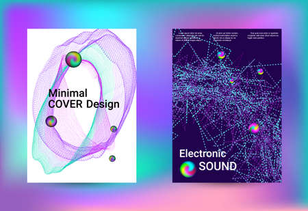 Set of covers for design. Minimal vector coverage. Business brochure template. Geometric print. Abstract vector background. Ilustracja