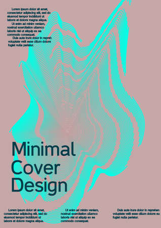 Minimum vector coverage. Creative background from abstract lines to create a fashionable abstract cover, banner, poster, booklet. Standard-Bild - 161764979